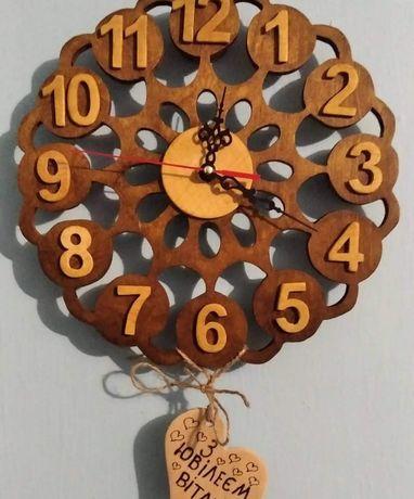 Часы деревянные ручная работа