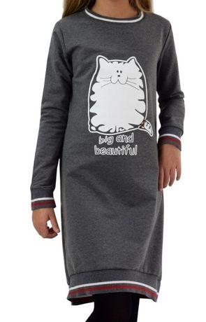Miss Lorelli sukienka szara Kotek 104