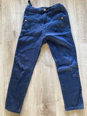 Spodnie chlopiece Zara 128 granatowe