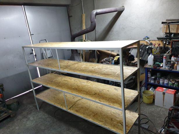 Regal warsztatowy wym:2.5×0.6×1.7m stol stolik narzedziowy garazowy