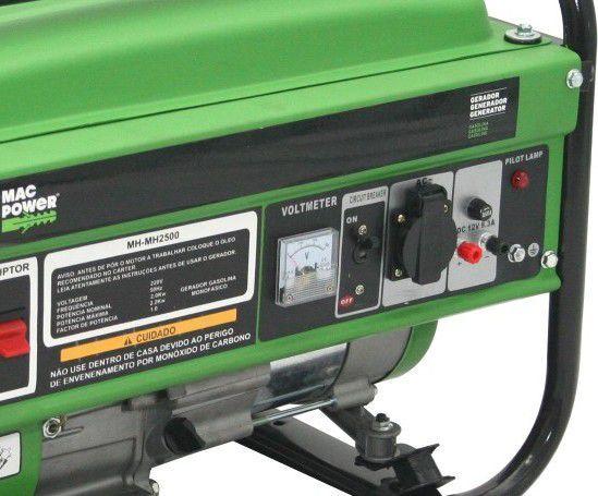 Gerador gasolina monofásico 2200 W 10,8A barato PROM
