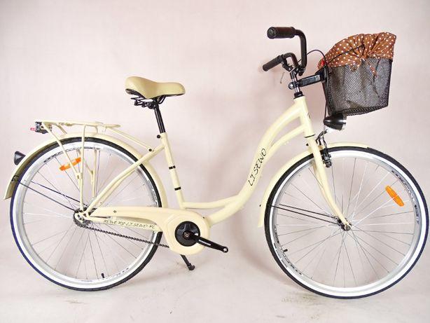 Rower Miejski city LADY 28'' kremowy