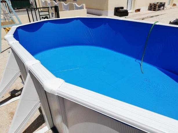 Montagem de piscinas desmontáveis (GRE TOI)