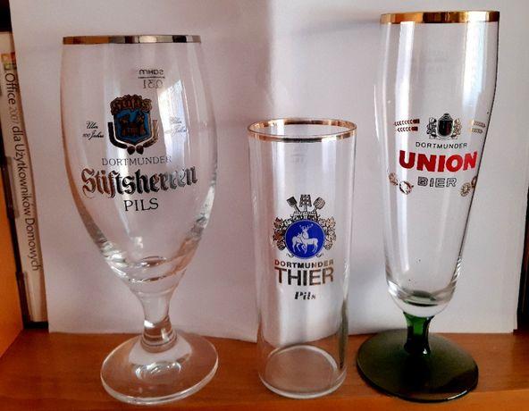 3 szklanki z 3 róznych browarów dortmundzkich - lata 80 -te