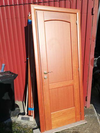 Drzwi dębowe wewnętrzne + futryna 3 szt.
