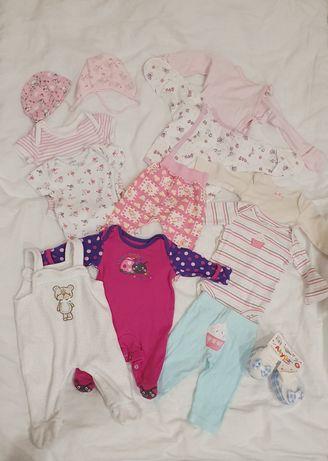 Набор брендовых вещей для новорождённой девочки 0-3 Carter's Next M&Co