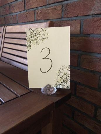 Stojaki na numery stołów ślub wesele diamentowe