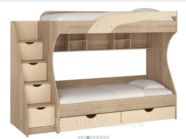 Двухьярусная кровать Кадет с матрасами