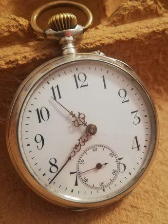 Raro antigo Relógio de bolso Spiral Breguet 15 rubis Caixa de prata