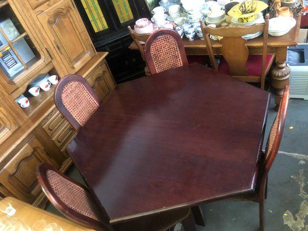 Komplet Stół rozkładany + 6 krzeseł z Niemiec DOWÓZ DO DOMU