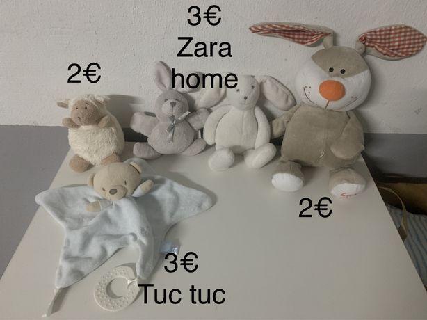 Peluches animais para bebé