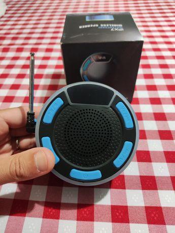 Coluna Bluetooth IPX7 Waterproof FM Radio