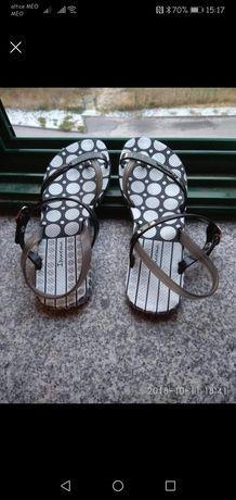 Sandálias Ipanema, tamanho 35/36