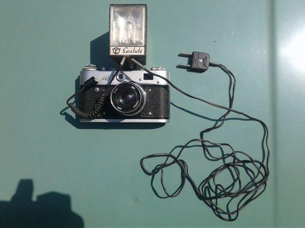 Фотоаппарат ФЭД-3 в идеальном состоянии + фотовспышка Saulute