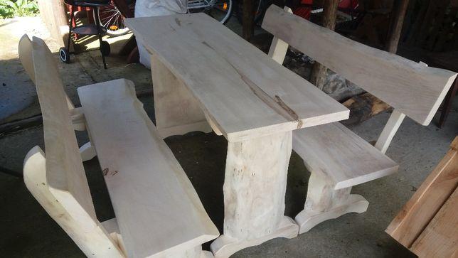 stół ławki drewniane jaworowe
