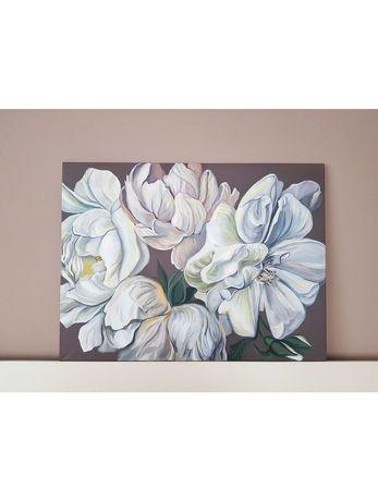 Картина цветы пионы живопись 60х80