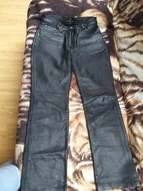 Spodnie ze skóry naturalnej