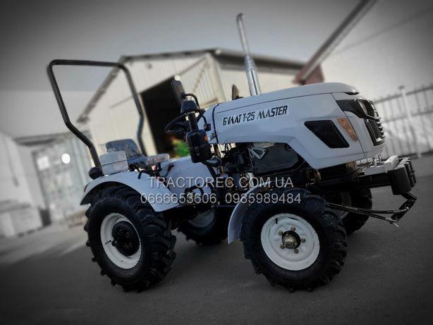 Міні трактор Булат Т-25 MASTER 3Т +фреза+2х плуг,Трактор,Мототрактор