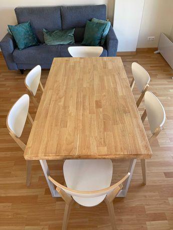 01 Mesa e 06 Cadeiras da Ikea Novas 08 meses de Uso -$$ abaixo Mercado