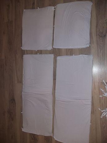 Wysoki ochraniacz do łóżeczka 45x350 cm