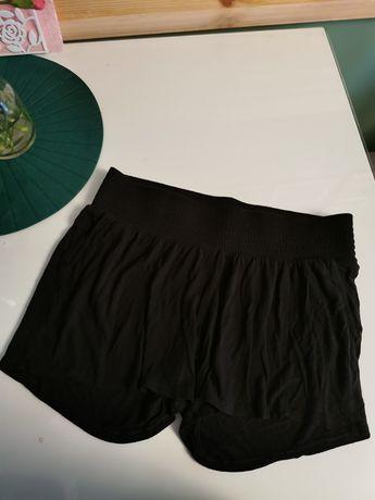 Czarne krótkie spodenki ciążowe M H&M mama 38 M