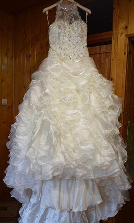 Suknia ślubna włoskiej firmy TRINCHERA roz.38 M