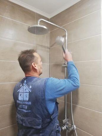 Remodelações gerais/ pavimentos, paredes, canalização e tetos falsos