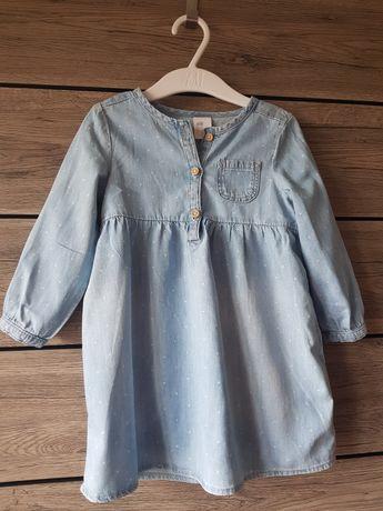 Sukienka, tunika, H&M, rozmiar 86 - 92
