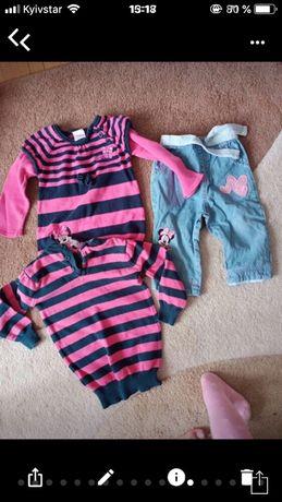 Пакет детских брендовых вещей на весну 6-12 месяцев. пальто на девочку
