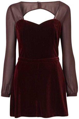 Бархатный велюровый комбинезон ромпер стильный костюм летний платье
