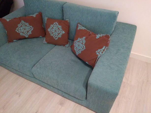 Vendo sofás azul e beje