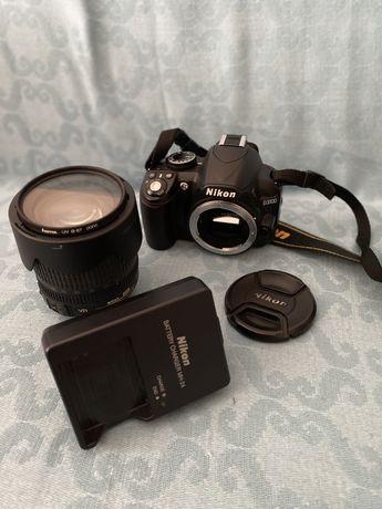 Nikon D3100 c/lente 18-105mm