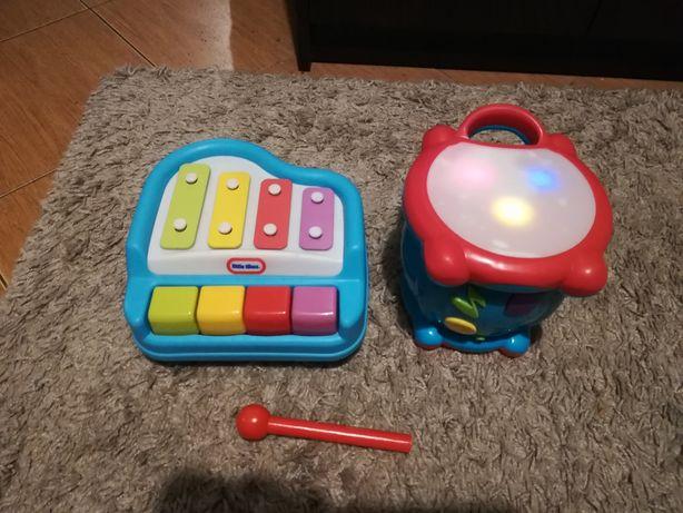 Grajace zabawki pianinko i bębenek Little tike