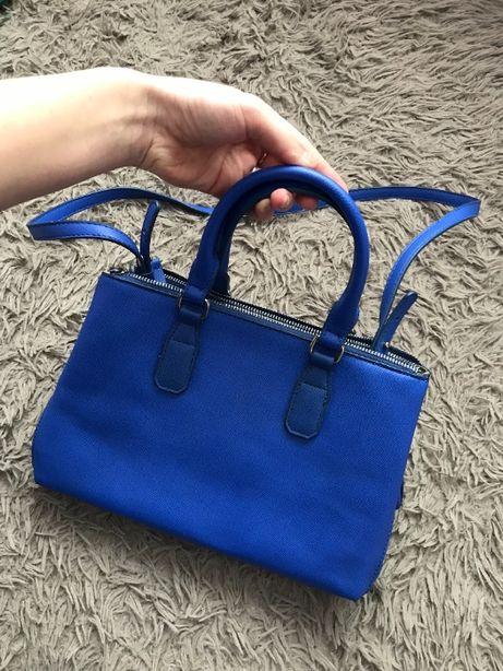 Сумка сумочка синяя с короткими ручками Mango