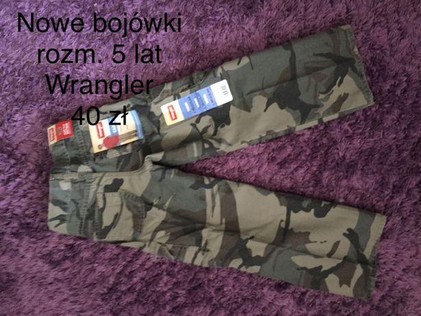 Nowe spodnie Wrangler bojówki