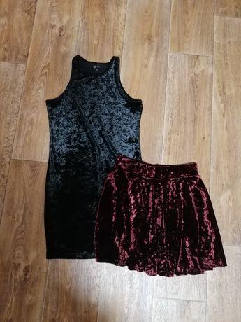 Чёрное платье и юбка