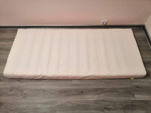 UNDERLIG materac piankowy do łóżka, biały 70x160 cm, ochraniacz LENAST