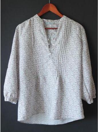 Льняная летняя блуза/туника