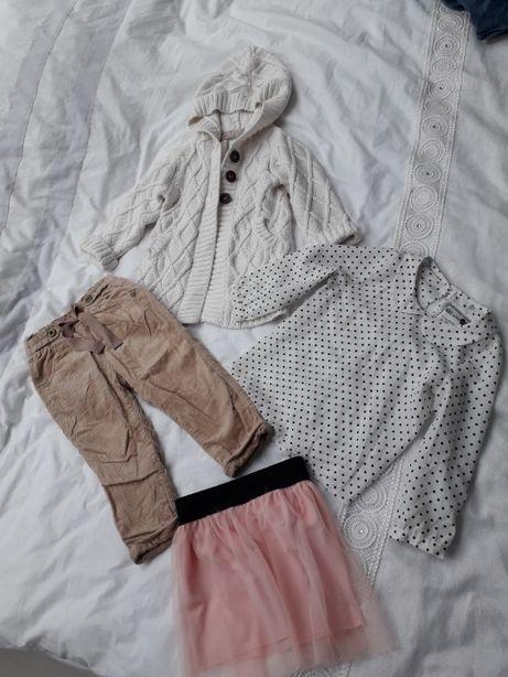 ZESTAW ubrań dla dziewczynki 4 szt NEXT,H&M rozmiar 86