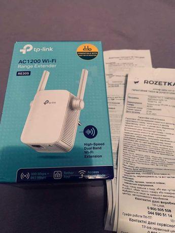 Ретранслятор TP-LINK AC1200  Розетка гарантия усилитель сигнала wi-fi