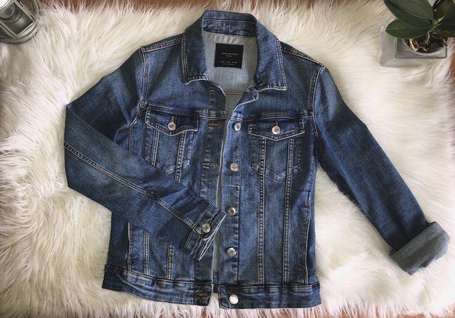 Katana kurtka jeansowa dopasowana Zara S