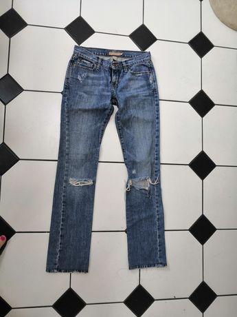 Spodnie ambercrombie & fitch z dziurami 100 procent bawełny S XS
