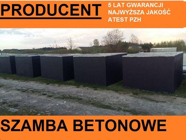 Szamba betonowe 5,6,8,10,12m3 Bocheniec,Małogoszcz,Krasocin,Włoszczowa