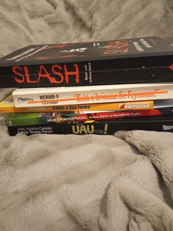Vários livros: biografias, ciclismo, Rugby...