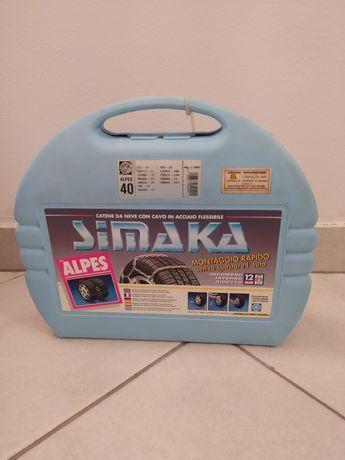 Łańcuchy śniegowe Simaka Alpes 40, 12mm nowe, nieużywane
