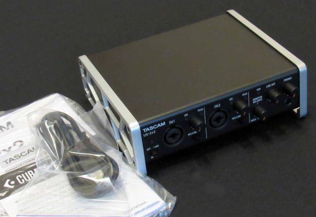 Аудио миди интерфейс Tascam US-2x2 звуковая карта
