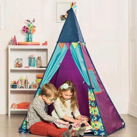 Игровая палатка вигвам с проектором battat фиолетовая