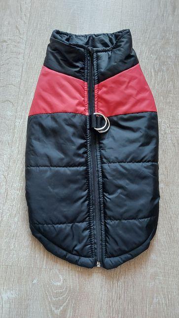 Жилет куртка для собак красно - черная