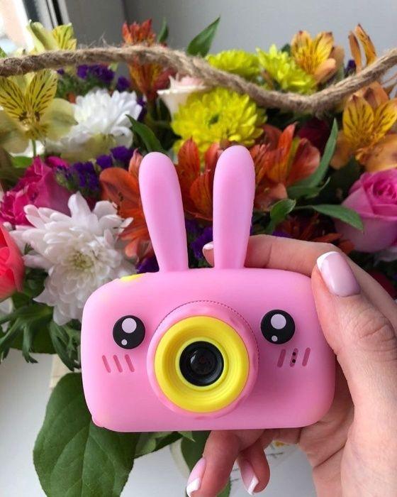 Настоящий Цифровой детский фотоаппарат в силиконом чехле с ушками Черкассы - изображение 1