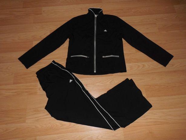 Adidas oryginalny dres kurtka - bluza spodnie czarny z pasem
